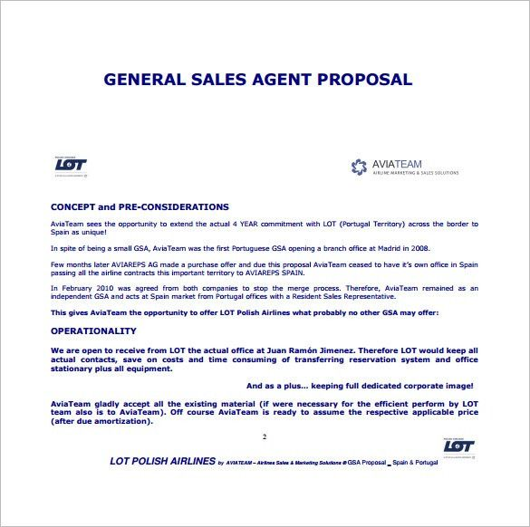 Sale Proposal Letter Fresh Sales Proposal Template In 2020