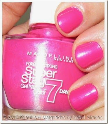 Forever Strong Superstay Gel Nail Color 7 Days #155 Bubble Gum da Maybelline