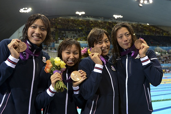 Japan's women's swimming team got the bronze medal,London Olympic 2012@競泳女子、チームワークで得た銅メダル。~ロンドン五輪2012~