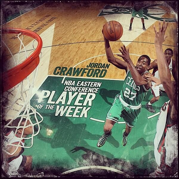 Interesting graphic from the Celtics recognizing Jordan Crawford as Eastern Conference Player of the Week