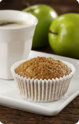 Oat bran and apple muffins