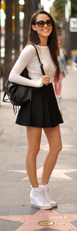 marvellous black skater skirts outfits dress
