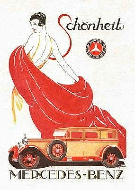 1000 images about the art of the car on pinterest for Vintage mercedes benz posters