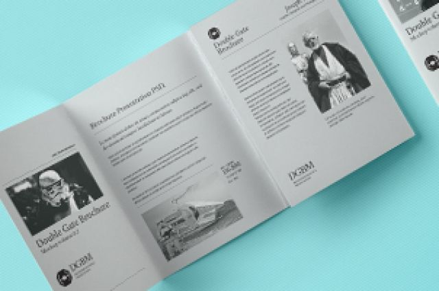 This is a layout variation on our psd double gate fold style brochure mockup to let you showcase your editorial designs....