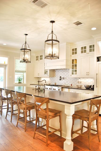 17 best images about kitchen island lights on pinterest for Ranch style kitchen cabinets