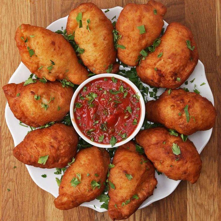 Deep-Fried Mini Calzones (Panzarotti) Recipe by Tasty