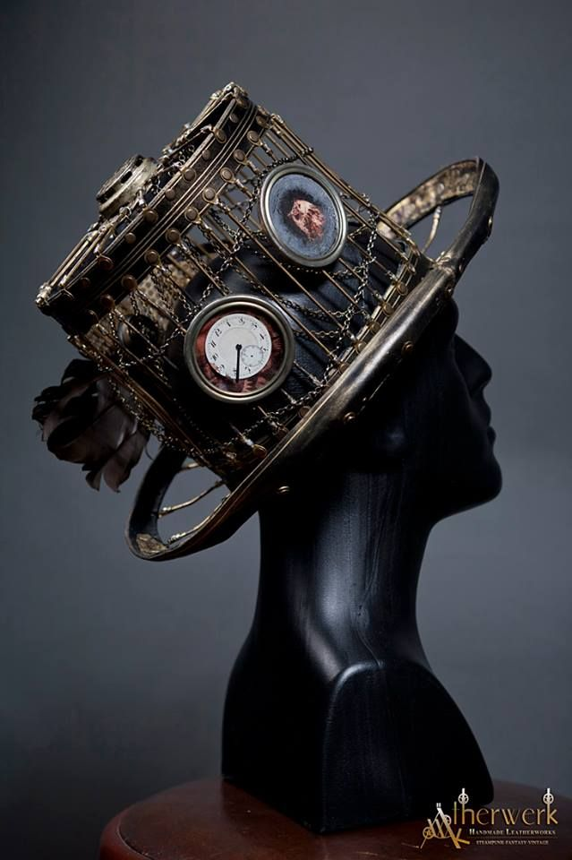 Steampunk Tendencies - steampunk top hat design - really love the design balance of this hat