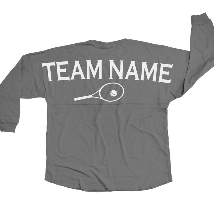 Tennis Statement Jersey Shirt Tennis Team Name