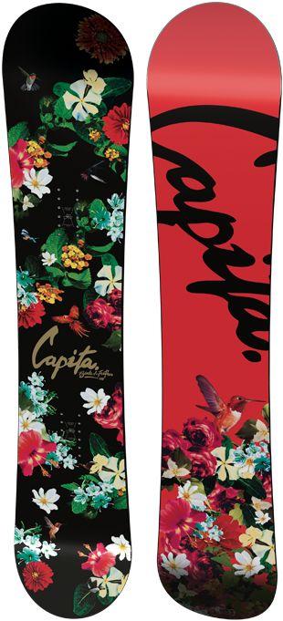 Capita Birds of a Feather Snowboard - Women's Snowboard - 2015 - All Mountain - Flowers