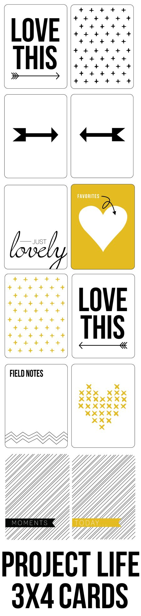 Free Journal Cards for Project Life from Just Izzy Design