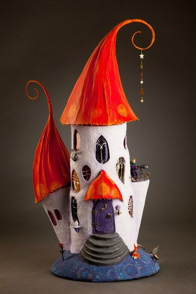 Paper Mache Lamp Need to do one of these of my eldest niece- she is 5 1/2 and would love this