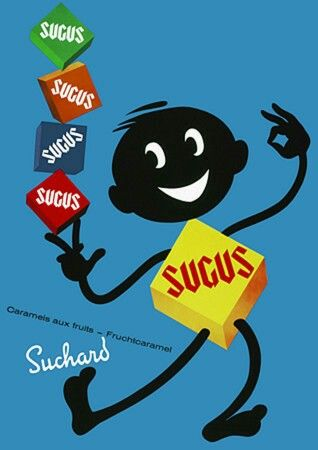 Original vintage poster SUGUS SWISS CANDYS SUCHARD 1964