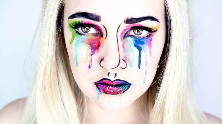 Snapchat Makeup Tutorial Watercolour Pop Art