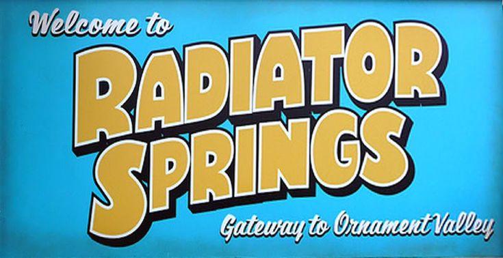 radiator springs sign - Google Search