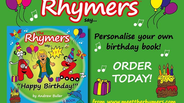 Personalised Birthday Book - The Rhymers say...Andrew Happy Birthday!
