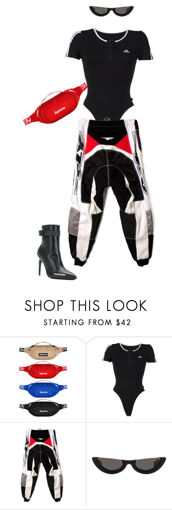 """""""Untitled #714"""" by milly-oro on Polyvore featuring adidas, PAWAKA and Off-White"""