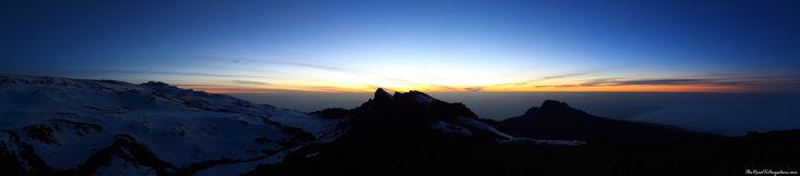 Sunrise panorama from the summit of Mount Kilimanjaro