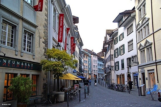 Zurich, Switzerland walked the beautiful streets nearly getting hit by the tram using a map over my head because of the rain juuust to find a hidden chocolater<3