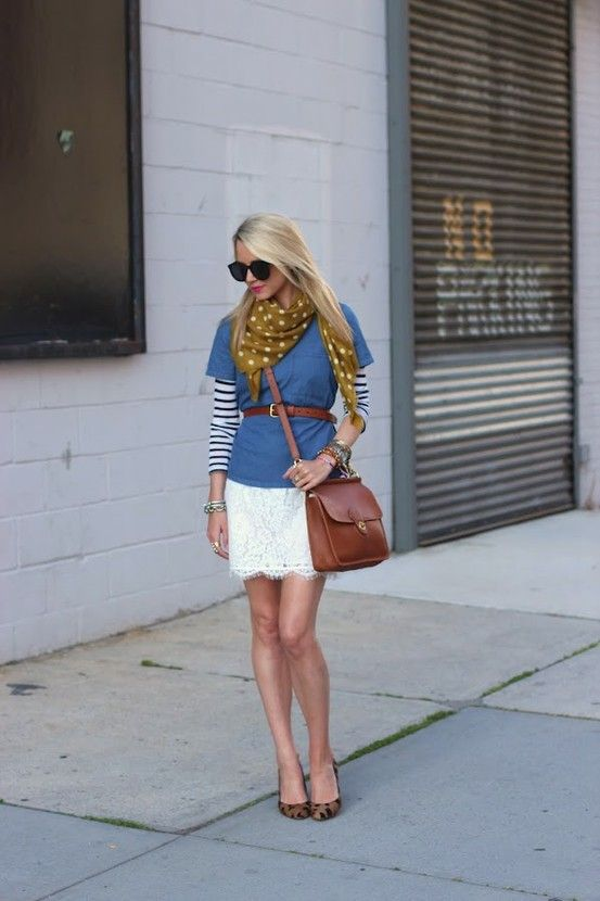 Southern Charm: Atlantic Pacific, Polka Dots, Blair Eadi, Street Style, Outfit, White Lace, Stripes, Lace Skirts, Lace Dresses