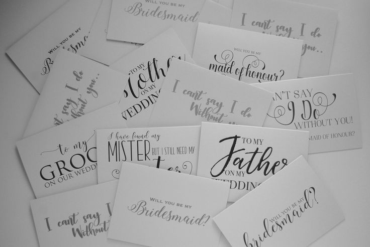 Wedding proposals from bride to groom, father and mother on my wedding day, my maid of honor, bridesmaid etc