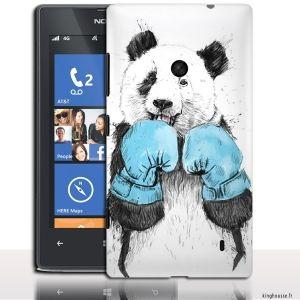 Coque Nokia 520 Panda sportif - Accessoire telephone portable Nokia. #Panda #Coque panda #Nokia #520 #lumia #box