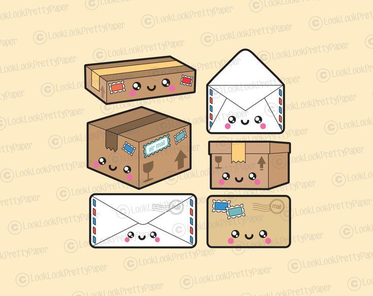 Premium Vector Clipart – Kawaii Mail Clipart – Kawaii Post Clip art Set – High Quality Vectors – Ins