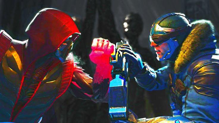 Injustice 2 - Sub Zero vs Captain Cold - All Intro Dialogue, Super Moves...