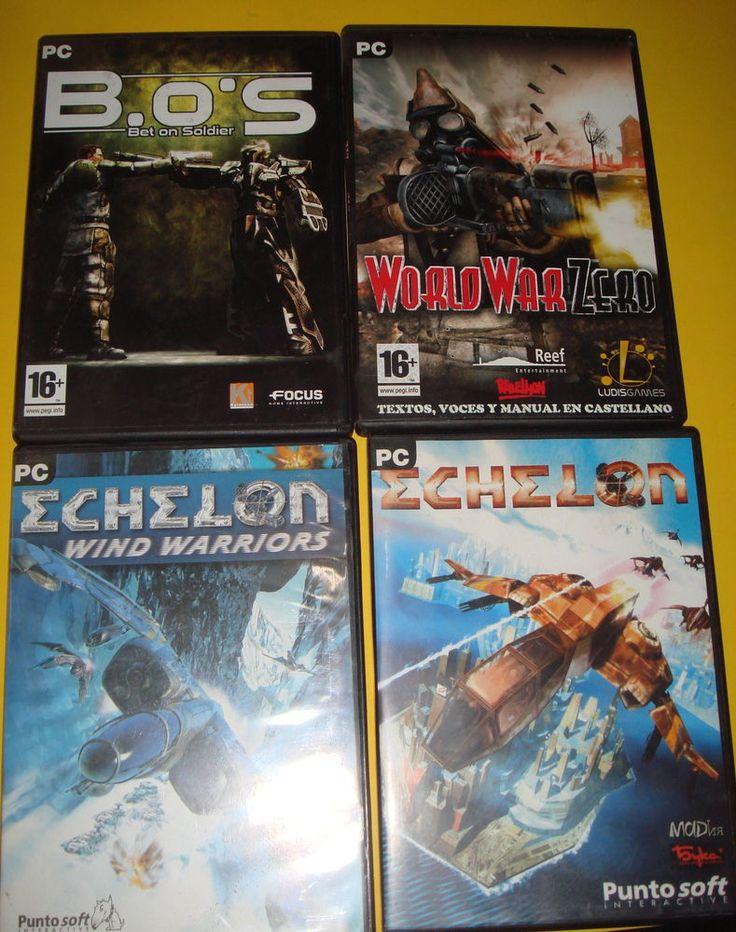 Lote de juegos de PC-WORLD WAR ZERO-ECHELON-B.O.S-4 juegos