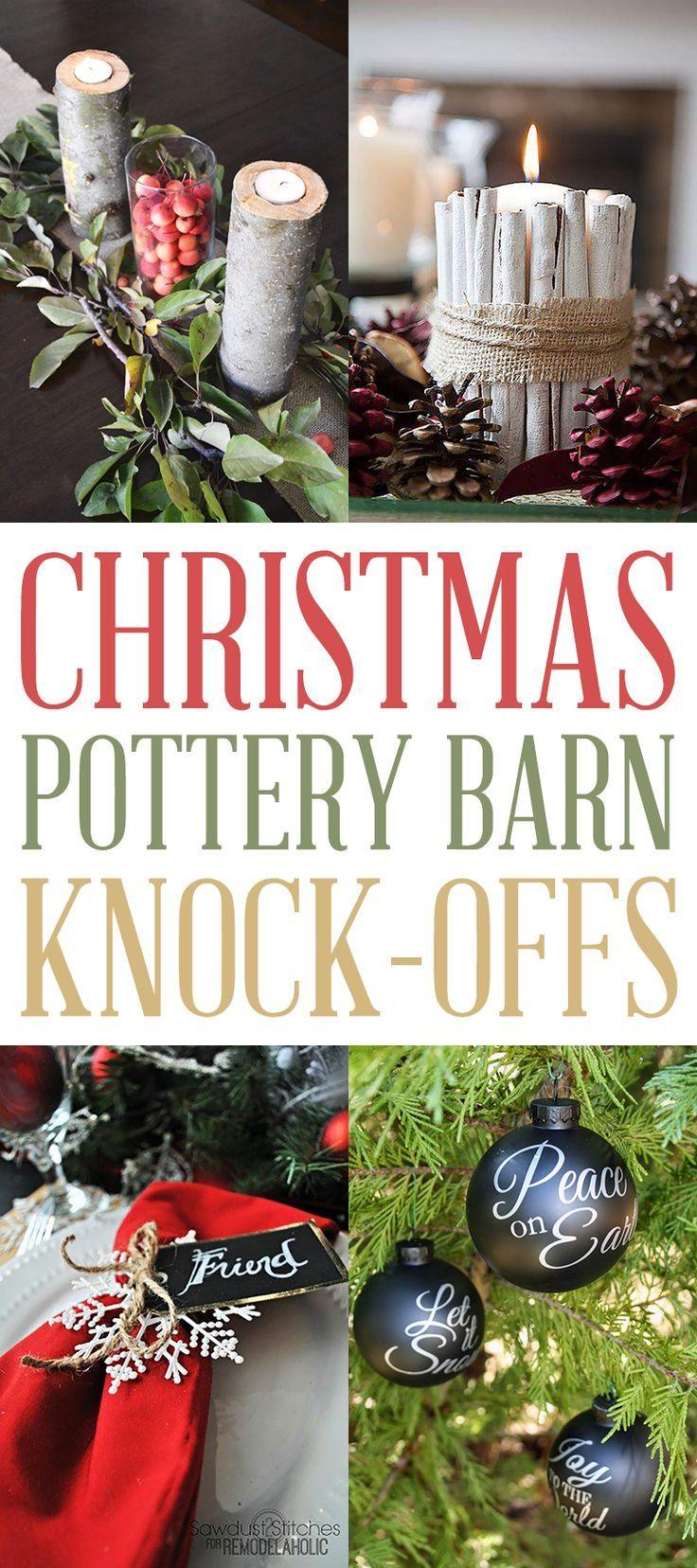 Christmas Pottery Barn Knock Offs Rustic Christmas