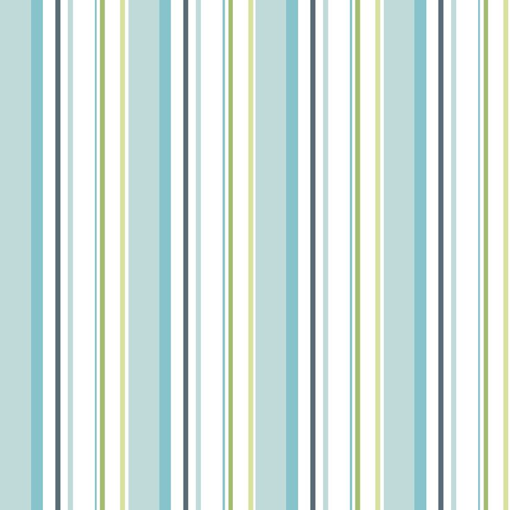 Colours Paste The Wall Multistripe Blue & Green Wallpaper | Departments | DIY at B&Q | STRIPES ...