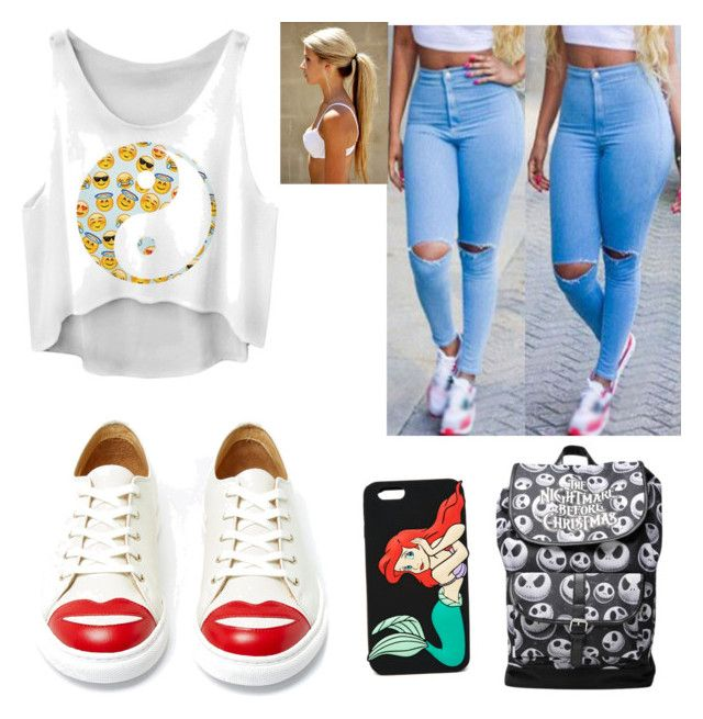 """""""Fashion outfit for teens"""" by ingrid-saeterdalen on Polyvore featuring Charlotte Olympia and Forever 21"""