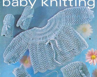 baby vest vintage breien patroon instant PDF van Ellisadine op Etsy