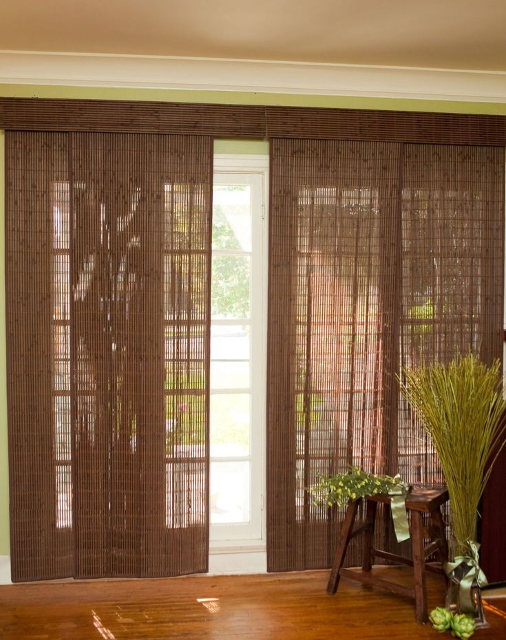 Bamboo Slider Panel Blinds For Patio Doors