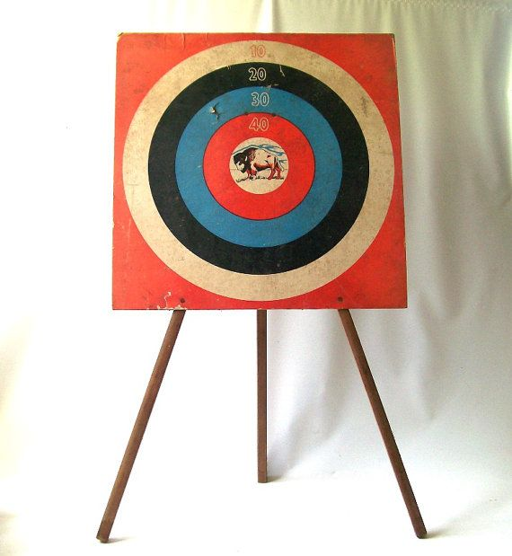 Vintage 1950 39 s standing shooting target bullseye mid Red home decor target
