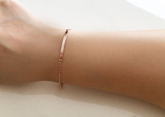 Personalized Bracelet Rose Gold Bracelet von MignonandMignon