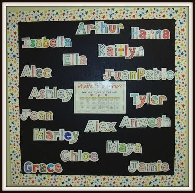 Name glyph -fun get to know you activity, then makes a great bulletin board (comes with lots of extension ideas)