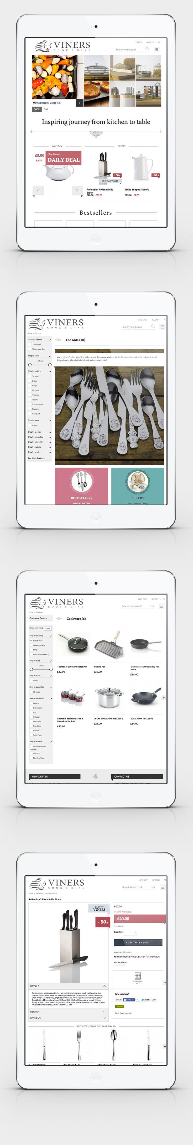 Viners Oneida Ltd / the Product Path – impressive heritage of Oneida Ltd. brands – responsive e-commerce website www.viners.co.uk/