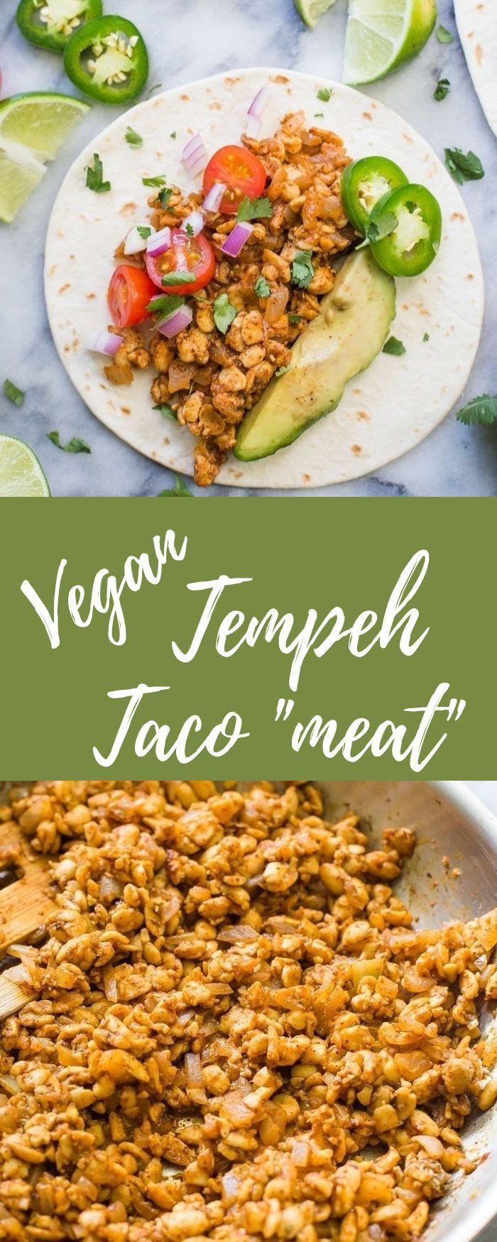 Tempeh Taco Meat This Vegan And Vegetarian Meat