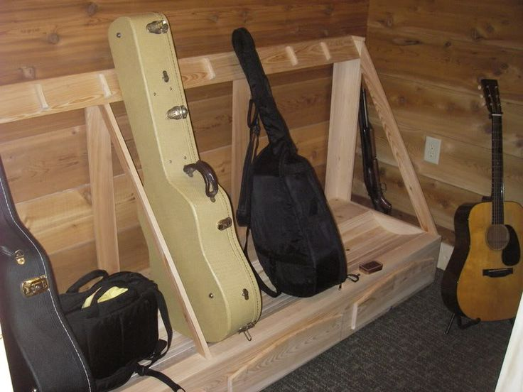 Guitar Case Storage Rack Diy In 2019 Guitar Storage