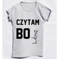 Time For Fashion Czytam bo ... / t-shirt klasyczny szary melanż