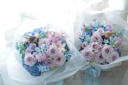 ご両親への贈呈プレゼントの花 八芳園様へ 千趣会ベルメゾンでもウサギの花束売ってます : 一会 ウエディングの花