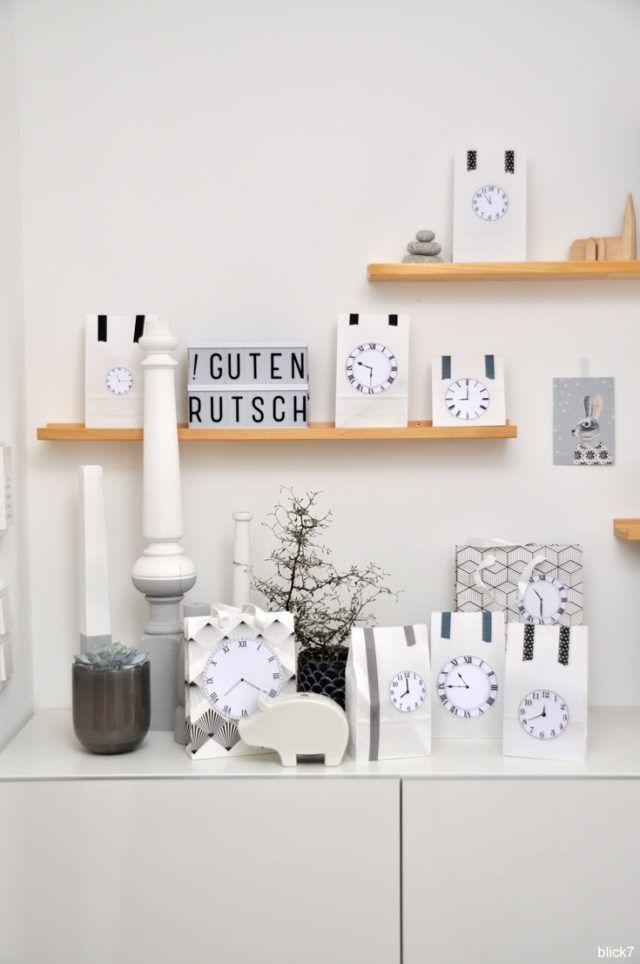 Silvester Countdown-Tüten DIY | Basteln silvester ...