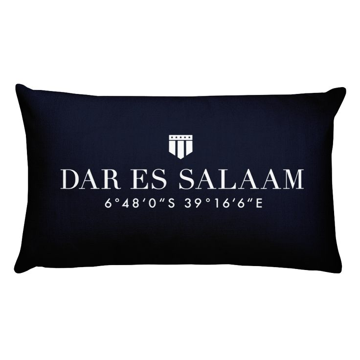 Dar es Salaam, Africa Pillow with Coordinates