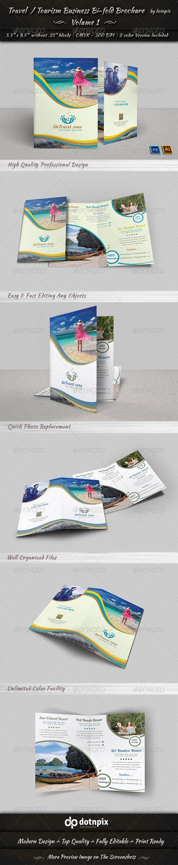 Travel / Tourism Bi-Fold Brochure - Volume 1
