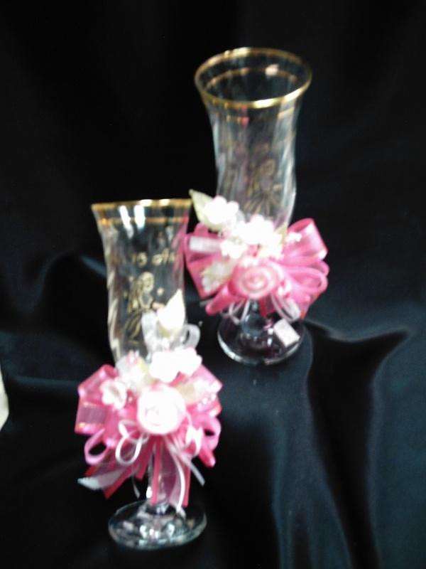 Decoracion de copas para quinceanera copas para brindis for Adornos para quinceanera