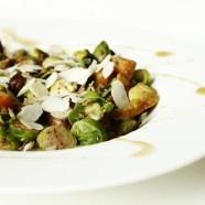 sweet brussel sprouts w/ sweet potato, tofu ,raisins and cinnamon