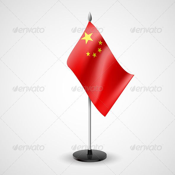 Table Flag of China
