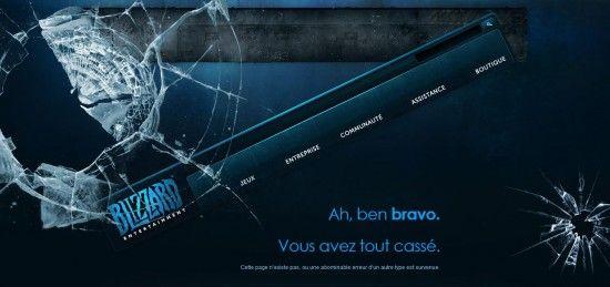 Blizzard - Ah, ben bravo. Vous avez tout cassé. http://us.blizzard.com/en-us/not-found.html