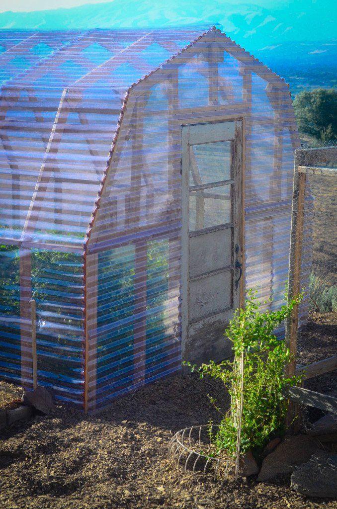 Elliott Homestead Greenhouse with Plastic Sheeting #greenhousediy