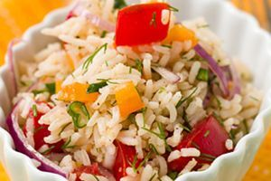 Рецепт-Постный салат с рисом и овощами | Постные блюда